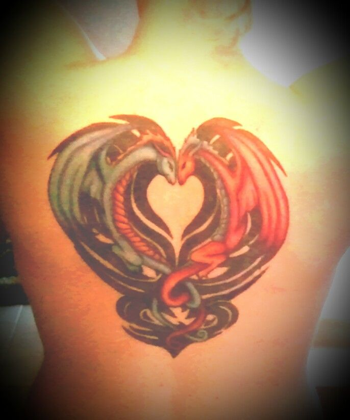 Gemini Dragon Tattoos And Back On Pinterest