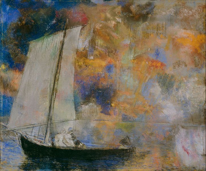 Flower Clouds (c. 1903) by Odilon Redon via Wikimedia Commons
