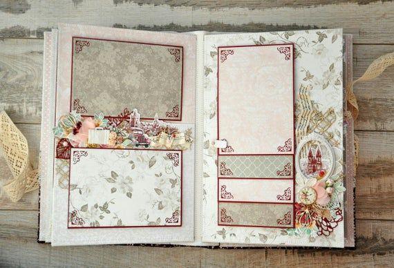 Wedding Album Red Wedding Album Wedding Album Scrapbook Etsy Wedding Mini Album Scrapbook Albums Wedding Album Gifts