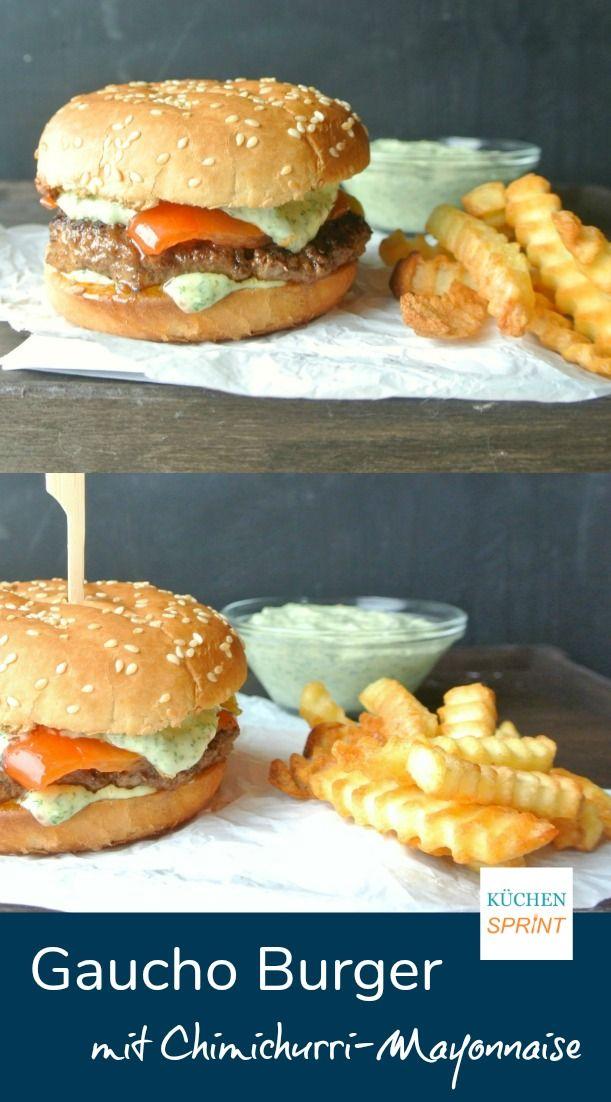 Saftiger Gaucho Burger mit Chimichurri-Mayonnaise.