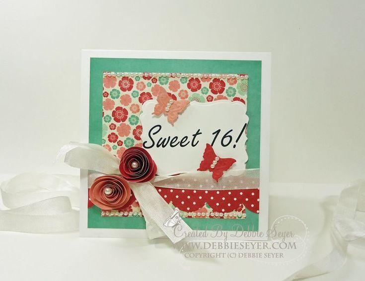 Sweet 16 card for my Caitlyn