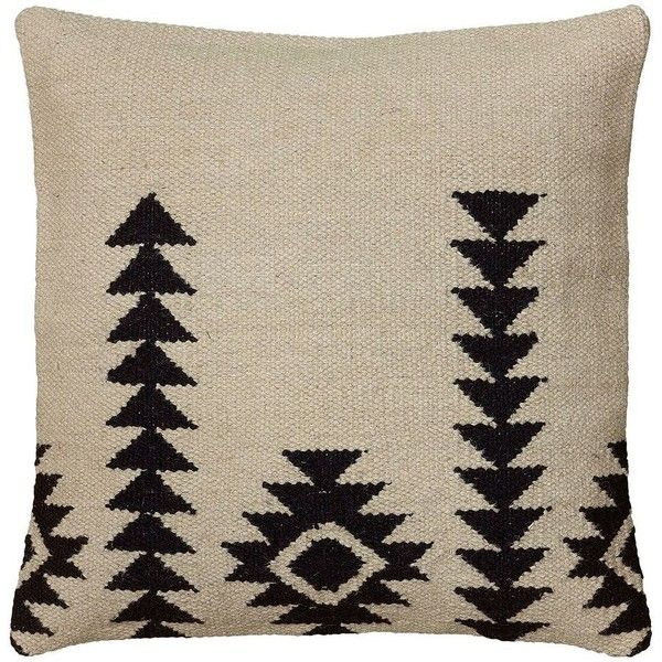 Rizzy Home White and Black Southwestern Throw Pillow, Multi/None ($75) ❤ liked on Polyvore featuring home, home decor, throw pillows, southwest home decor, southwestern throw pillows, rizzy home, patterned throw pillows and black and white throw pillows
