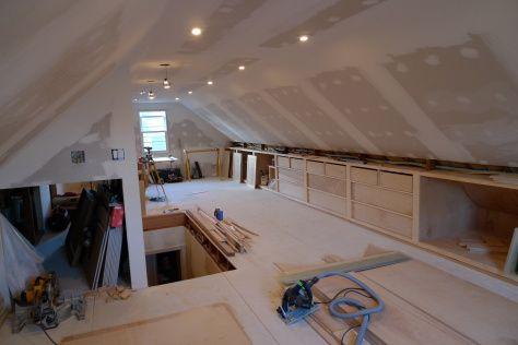 Long shelves to attic