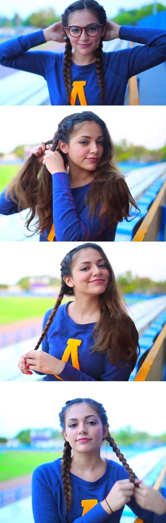 Sporty Braids | Quick and Easy Back to School Hairstyles for Teens
