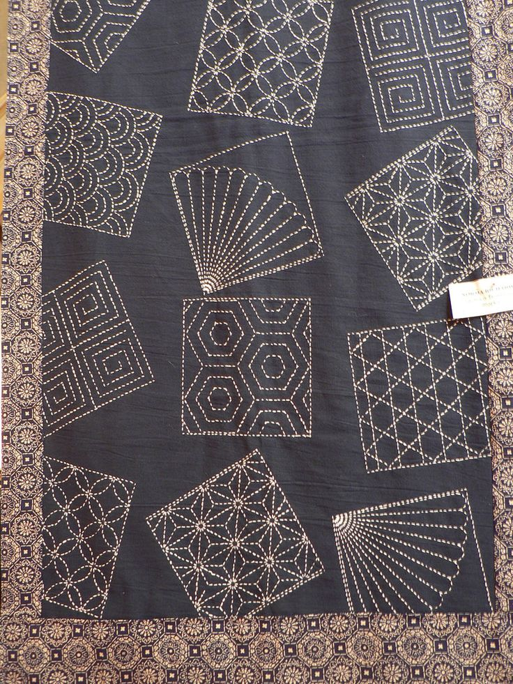 Japanese Sashiko Technique Sashiko Embroidery