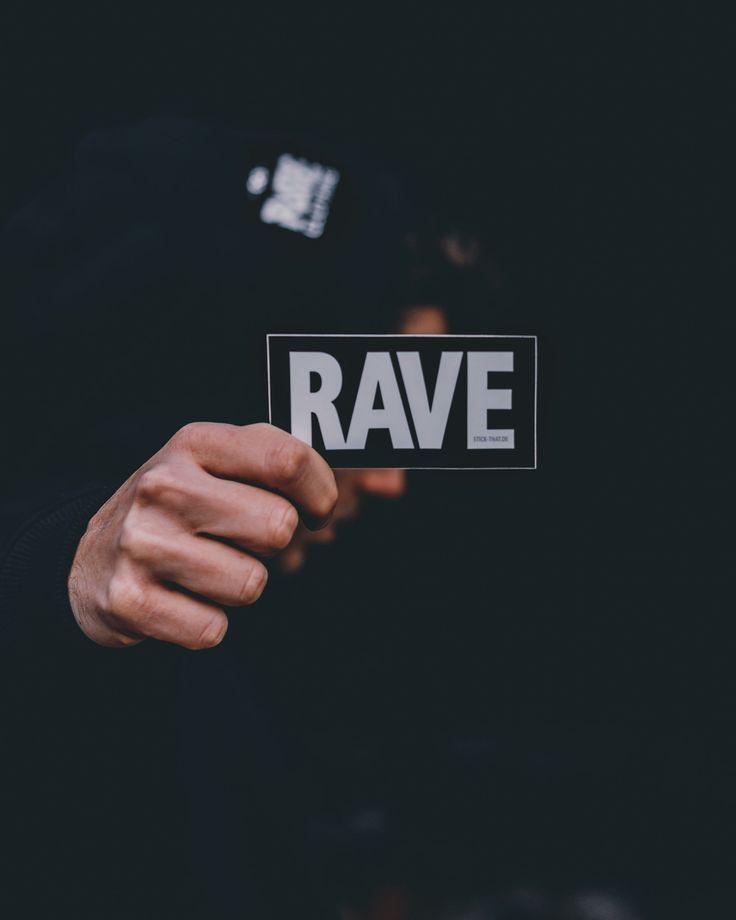 Rave Sticker - RAVE Clothing | festivals/edm/djs | Techno