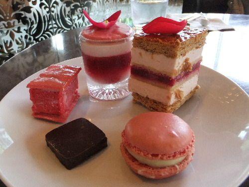 Fetish Ispahan - macaron, Emotion Ispahan, Millefeuille, chocolate bonbon, & Miss Gla Gla.