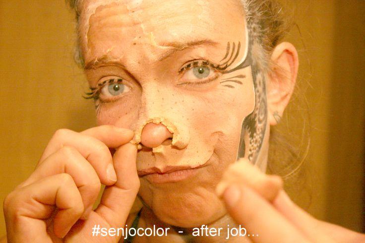 After Job - ist vor dem Job.. #senjocolor #sfx #bodypainting mit #prosthetics