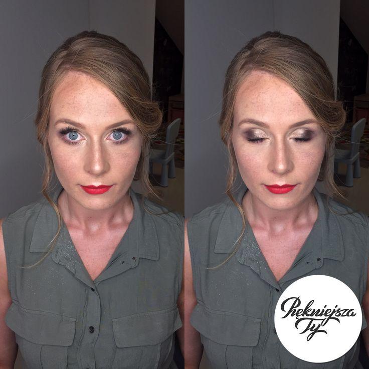Delikatny makijaż nie zakrywający, ale uwydatniający piękno kobiety ;)  #piekniejszaty #makijaż #makeup #skierniewice