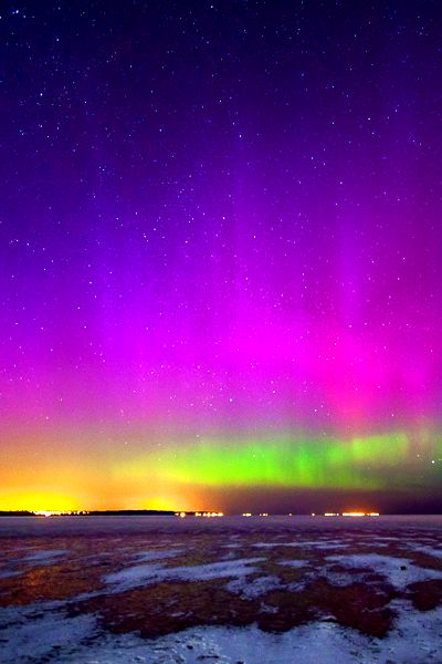 Colorful Northern Lights ... Photography from Travels All Aronud the World