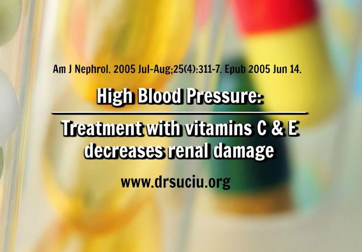 Picture drsuciu Hypertension: Vitamins C & E Benefits