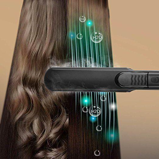 Brush Straightener, Women Steam Hair Straightener Brush Hair Care Straightening Brush Comb with PTC Faster Heating Support Home, Work, Dating, Travel, Salon (US Plug, Black) - http://amzn.to/2urlhtY