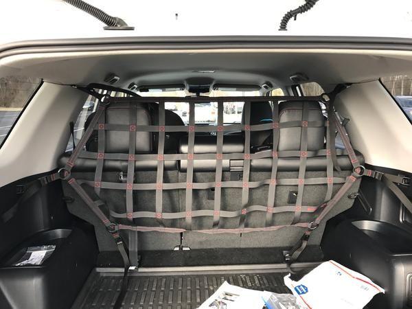 2010 Newer Toyota 4runner 5th Gen N280 Behind 2nd Row Seats Rear Half Upper Barrier Divider Net 6 Point 4runner Toyota 4runner 4runner Accessories
