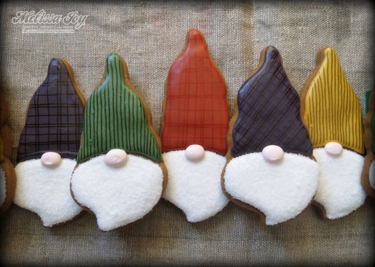 Santa Gnomes Cookies by Melissa Joy