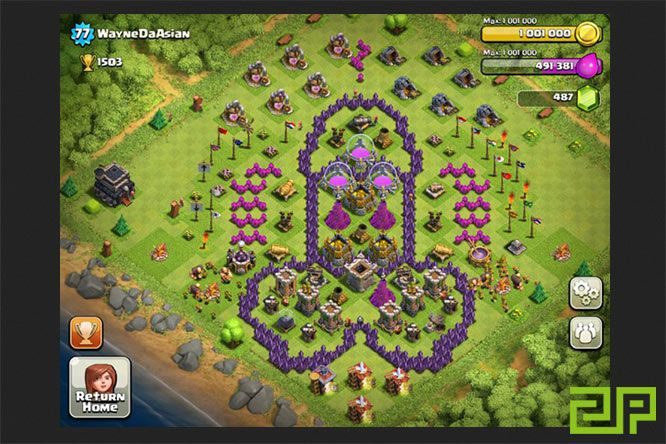 clash of clans base defence
