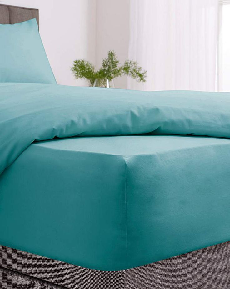 Easy Care Plain Dye Fitted Sheet In 2021 Fitted Sheet Modern Colors Beautiful Easy