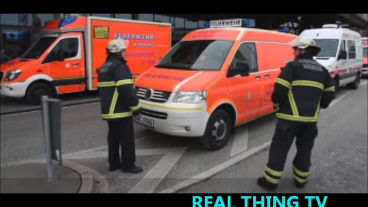 Unknown toxin evacuation & closure of Hamburg airport - YouTube