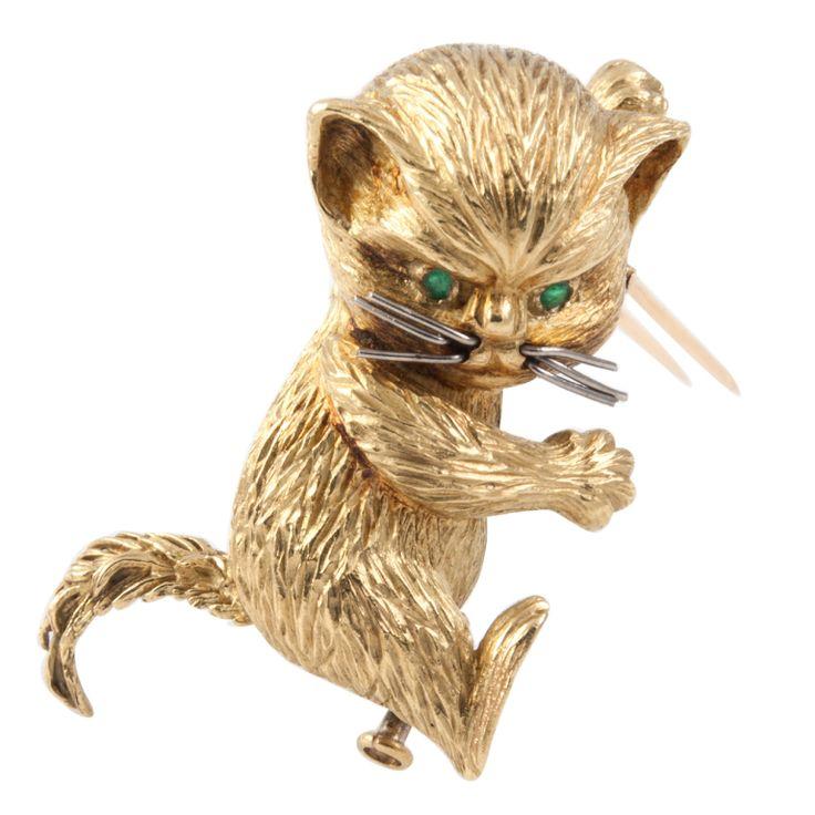 Hermes Cat Brooch.