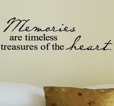 memories are timeless treasures of the heart vinyl lettering wall sayings home decor quote sticker 10 - Home Decor Quotes