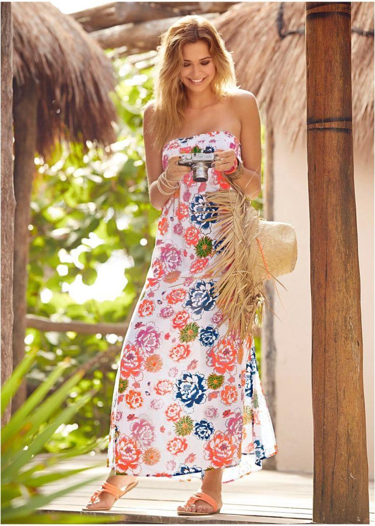 Sukienka Zwiewna sukienka z dekoltem • 89.99 zł • bonprix