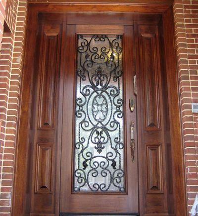 Wrought Iron Exterior Doors Westchester & 22 best portas images on Pinterest | Entrance doors Front entrances ...
