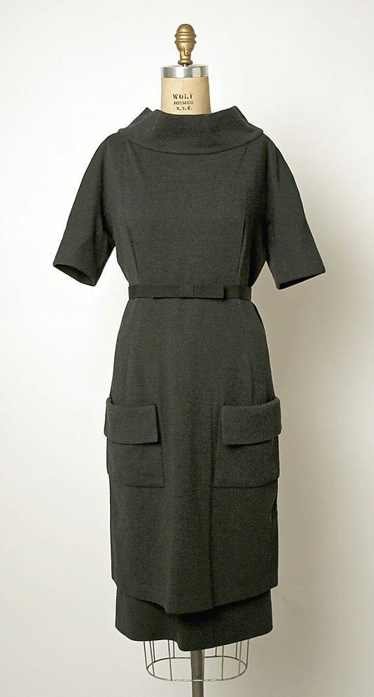 Dress  House of Balenciaga (French, founded 1937)  Designer: Cristobal Balenciaga (Spanish, 1895–1972) Date: 1956 Culture: French Medium: wool