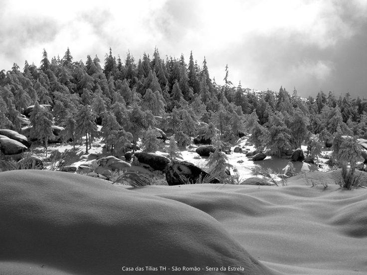 Vale do Rossim, na Serra da Estrela, cheia de Neve