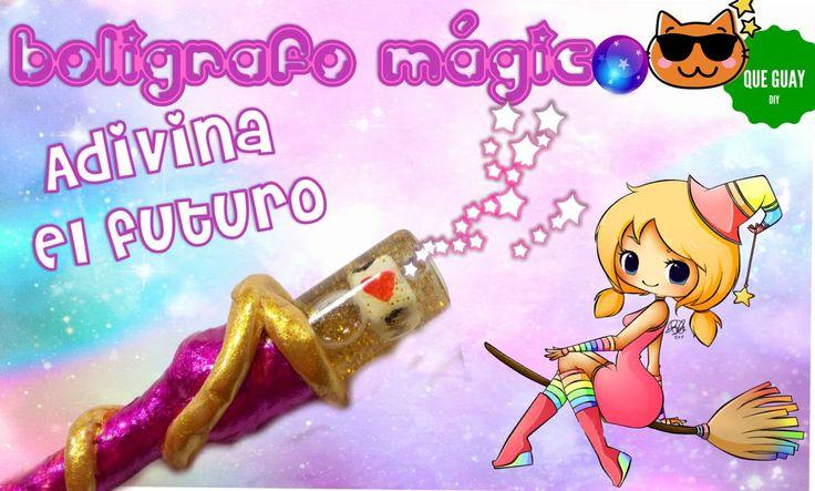 ★ Haz un bolígrafo mágico que adivina el futuro ★ DIY  Manualidad decora...