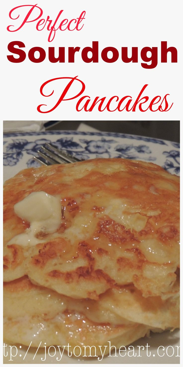 Need a recipe to use your extra sourdough starter? Perfect Sourdough Pancakes are a perfect solution. Pancakes are light with a delicately sourdough flavor.