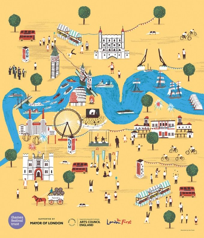 388 Best London Town Images On Pinterest Illustrationsposters: Children S Map Of London At Infoasik.co
