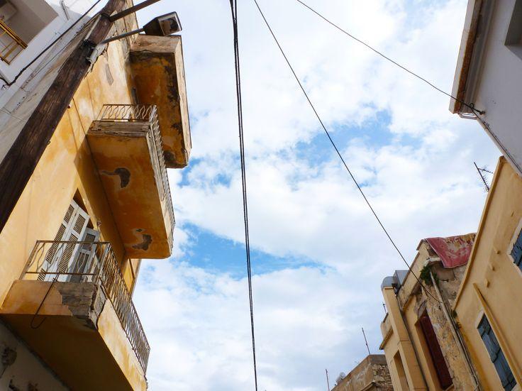 Heraklion - neighbourhood looking straight to the sky