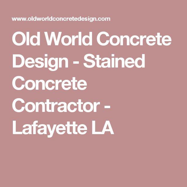 1000 Ideas About Concrete Contractor On Pinterest