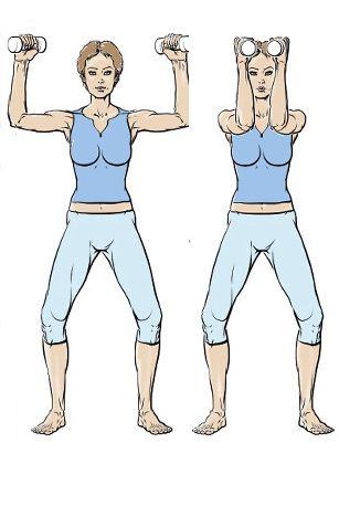 Exercice 2 : pour de beaux pectoraux - 5 exercices pour muscler ses bras - Femme Actuelle