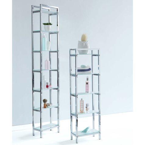 regal chrome klein schmal glas tiefe 15cm katalogbild - Badezimmer Regal Schmal