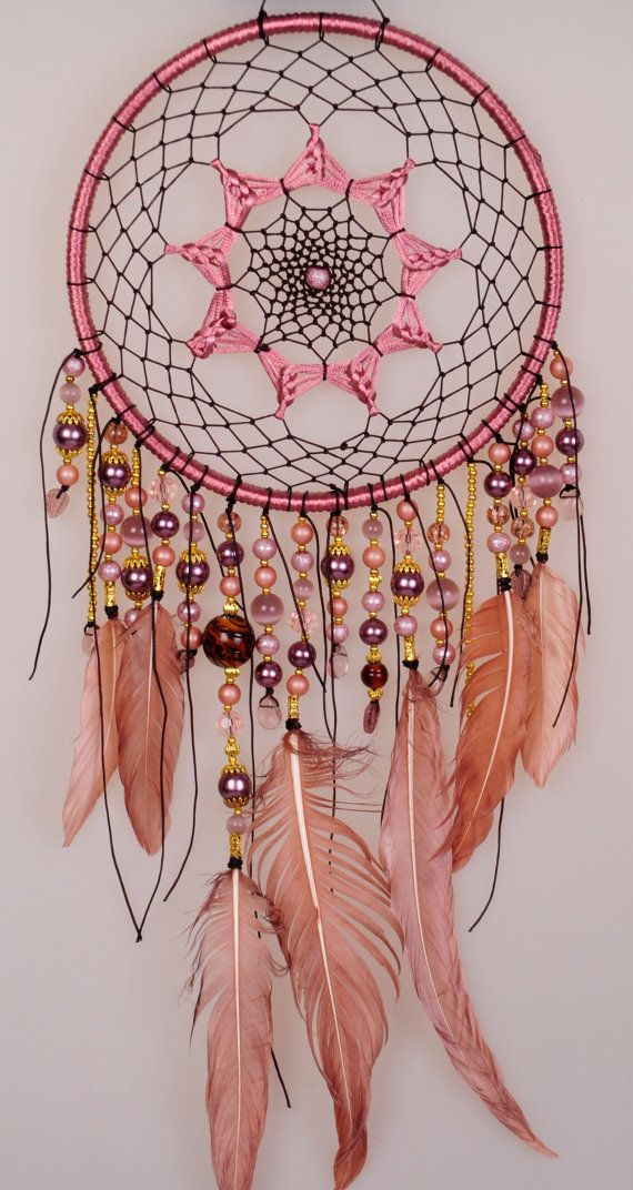 Dreamcatcher Beige Dream Catcher grand par BestDreamcatcherShop