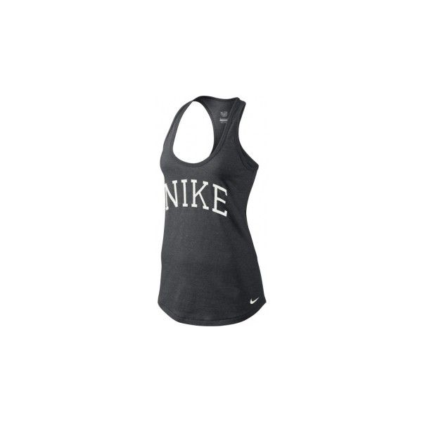 Nike MARLED JERSEY GRAPHIC TANK ❤ liked on Polyvore featuring tops, graphic print top, nike tank tops, jersey tank top, jersey top and nike jerseys