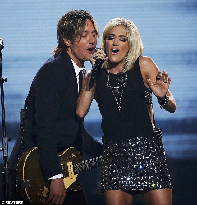 Special duet: American Idol judge Keith Urban joined Carrie for a duet. It was the most beautiful duet ever