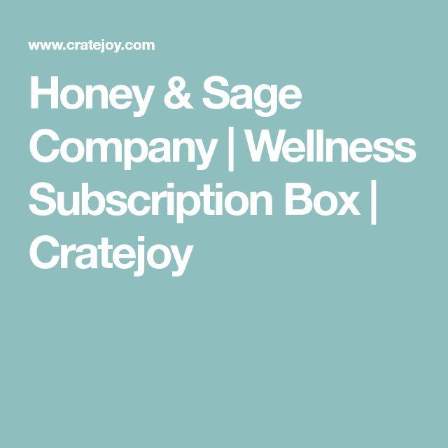 Honey & Sage Company | Wellness Subscription Box | Cratejoy