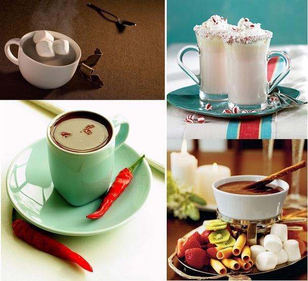 Пять популярных рецептов горячего шоколада