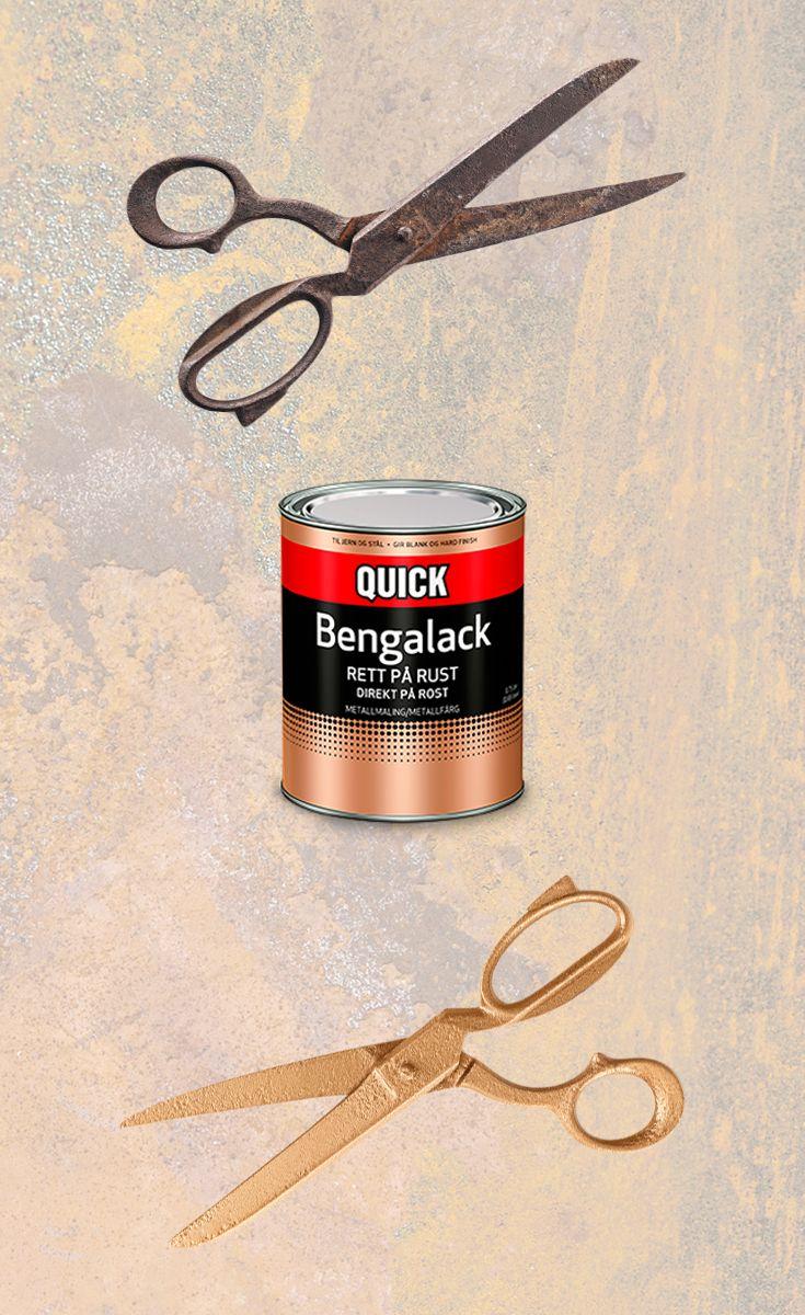 Nå kan du male rett på rust! Quick Bengalack Rett på rust er rask og enkel rustbeskyttelse, grunning og toppstrøk - i ett produkt.  #diy #bengalack #quickbengalack