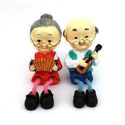 Ayağı Sarkan Çift Müzisyen Biblo