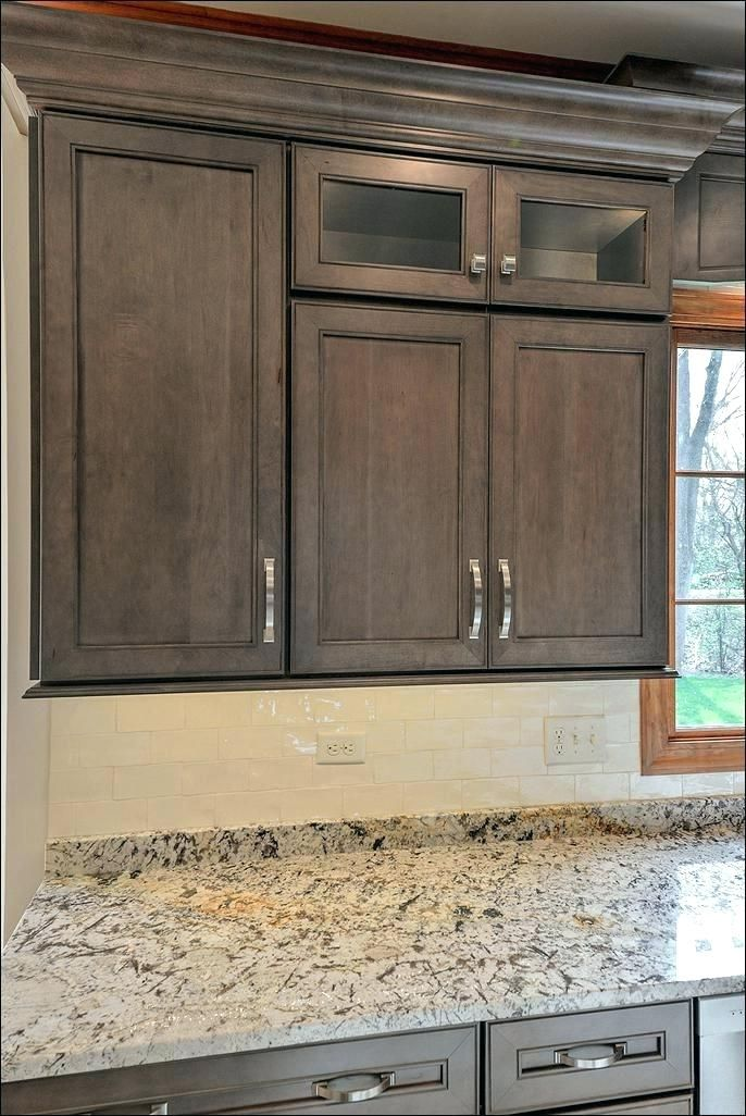 Gray Stained Poplar Cabinets | Homeminimalisite.com