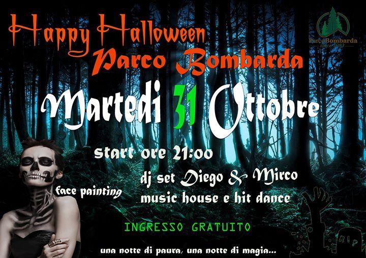 Happy Halloween a Parco Bombarda.  Una notte di paura, una notte di magia... Save the date Martedi 31 Ottobre presso la struttura Bar di Parco Bombarda. Ingresso Gratuito