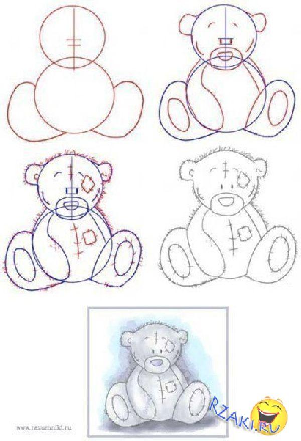 кого медвежата рисунок карандашом поэтапно настолько