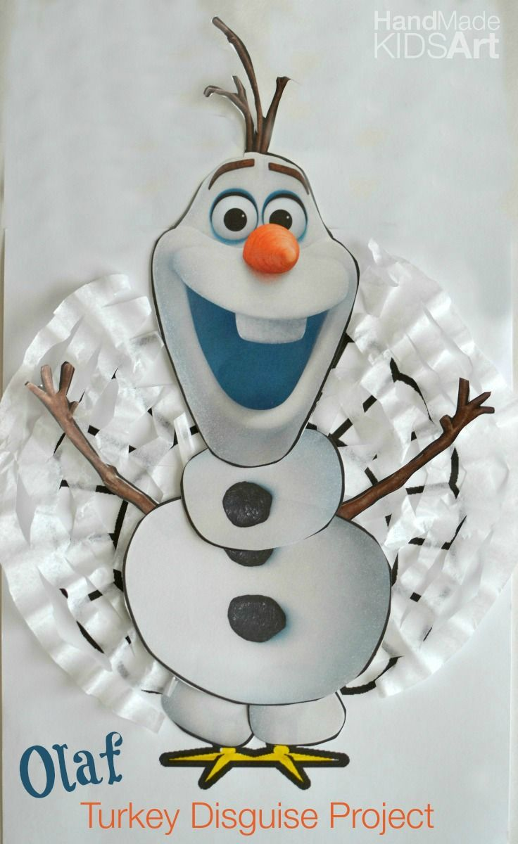 How to decorate and hide the turkey - Olaf Inspired Turkey Disguise Project