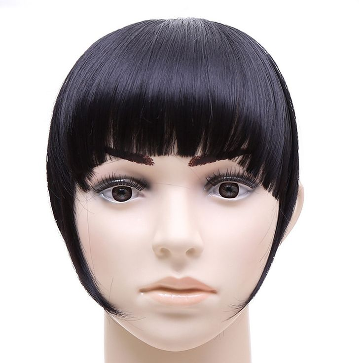 Blunt Bang with Temples Long Hair Card Type Wig 1B#