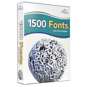 Summitsoft 1500 Fonts Software w/Font Installer Deal