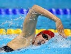 Rebecca Adlington of Great Britain swims in the heats of the women's 400m Freestyle