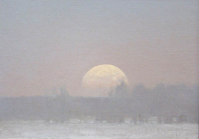 Russell Chatham - Moonrise in Montana
