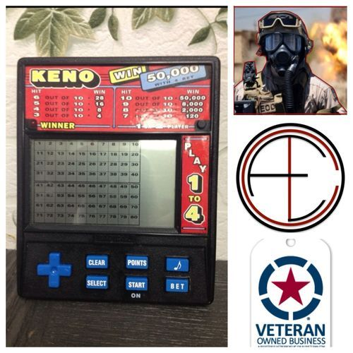 Keno HandHeld Electronic Card Game Big Screen 2 Player Single Casino 1480
